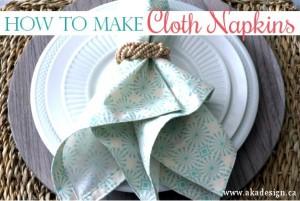 how to make cloth napkins scandi christmas