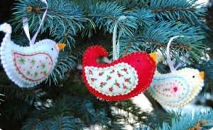 scandi christmas bird sewing tutorial